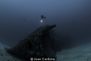 Wreck dive &amp; free Dive by Juan Cardona 